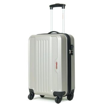 限区域:優勢(Advantage)中性优质ABS材质时尚简约经典大气20英寸登机拉杆箱银色8205